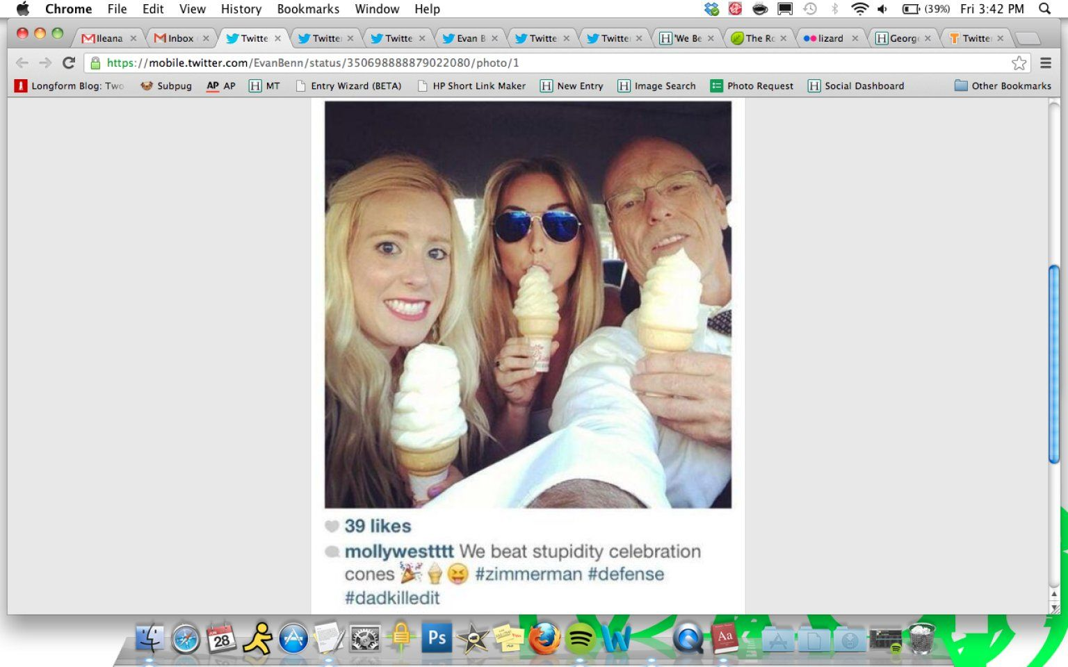 George Zimmerman's Lawyer, Daughter Celebrate With Ice Cream, Share Photo On Instagram