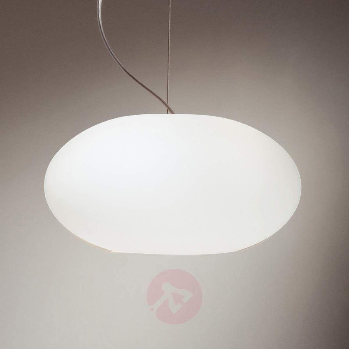 Aih Purystyczna Lampa Wisząca 28 Cm Biała Matowa Lampy