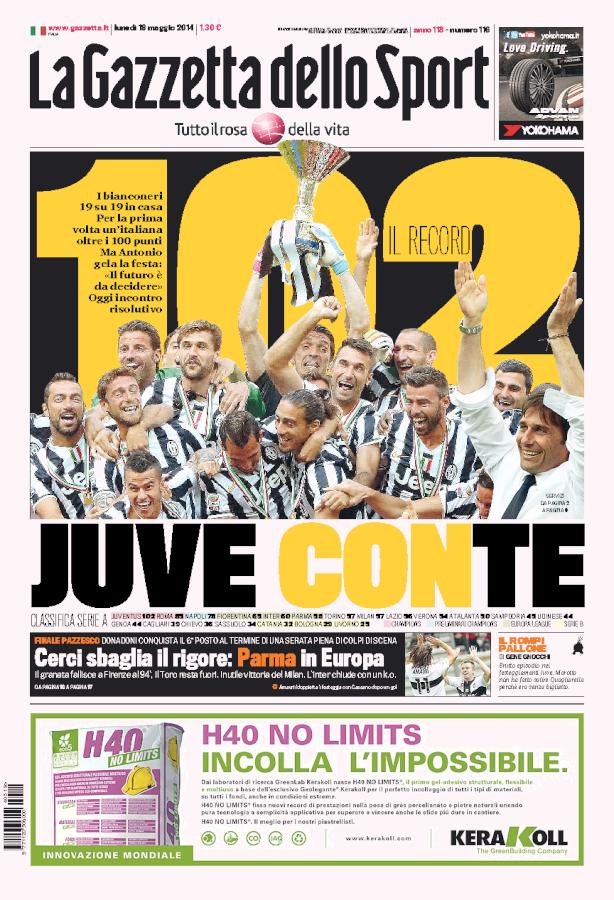 19 maggio 2014 Sport, Calcio, Juventus