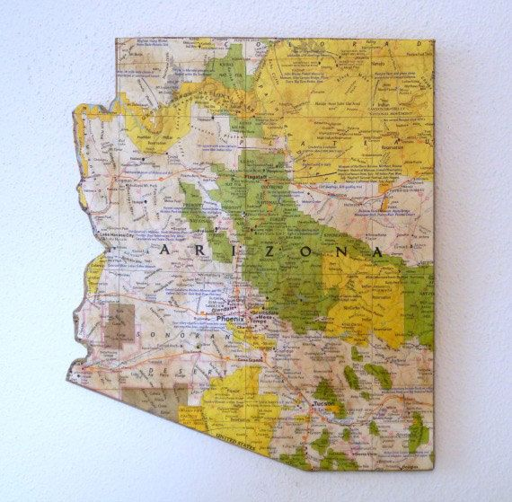 ARIZONA State Map Wall Decor | Perfect Gift for Any Occasion ...