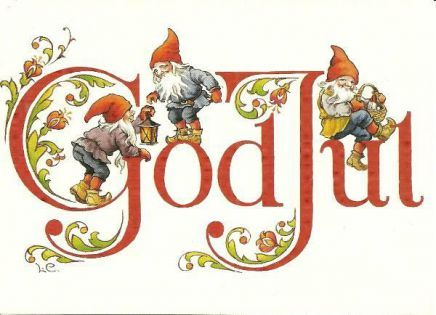 Merry Christmas In Norwegian.Gnomes Lars Carlsson God Jul Merry Christmas