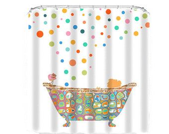 Kids Shower Curtain Bathroom Decor Shower Curtains Child Shower