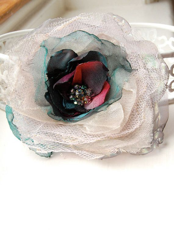 Luxurious Silk Flower Brooch/Corsage Silk by GhostFlowerArt, $22.50