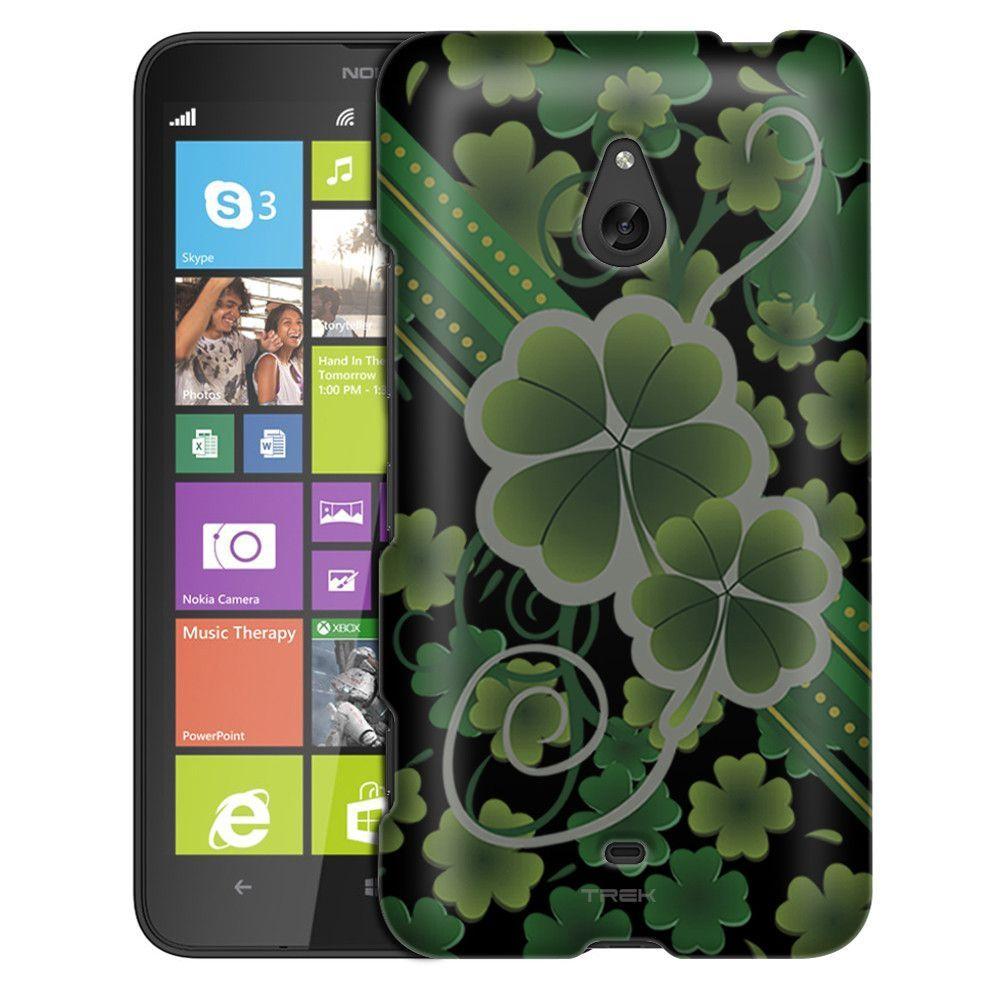 Nokia Lumia 1320 Lucky Clovers on Black Slim Case