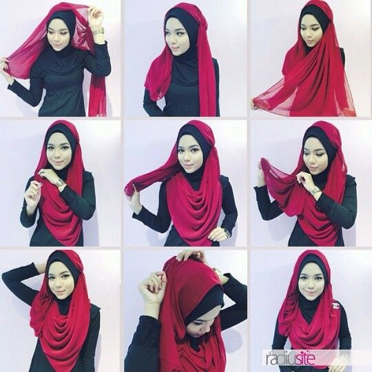 Radiusite Hijab Tutorial Gorjes But Maybe Not For Me Hijab Style Tutorial Hijab Tutorial Hijabi