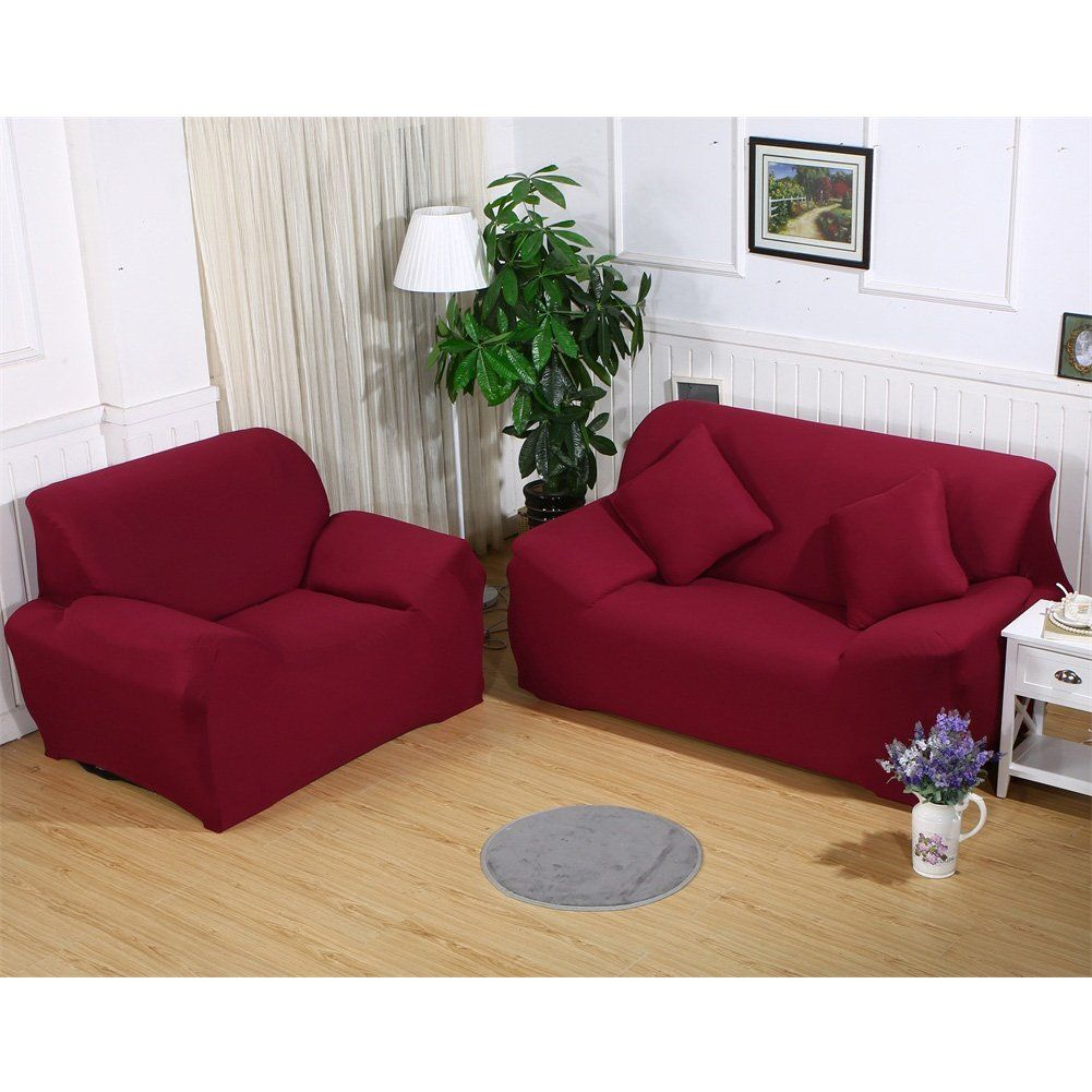 Mifxin Sofa Cover Couch Cover Slipcover 1 Pcs 1 Seater Chair Protector Polyester Spandex Fabric Armchair Slipc Couch Covers Slipcovers Suede Couch Couch Covers