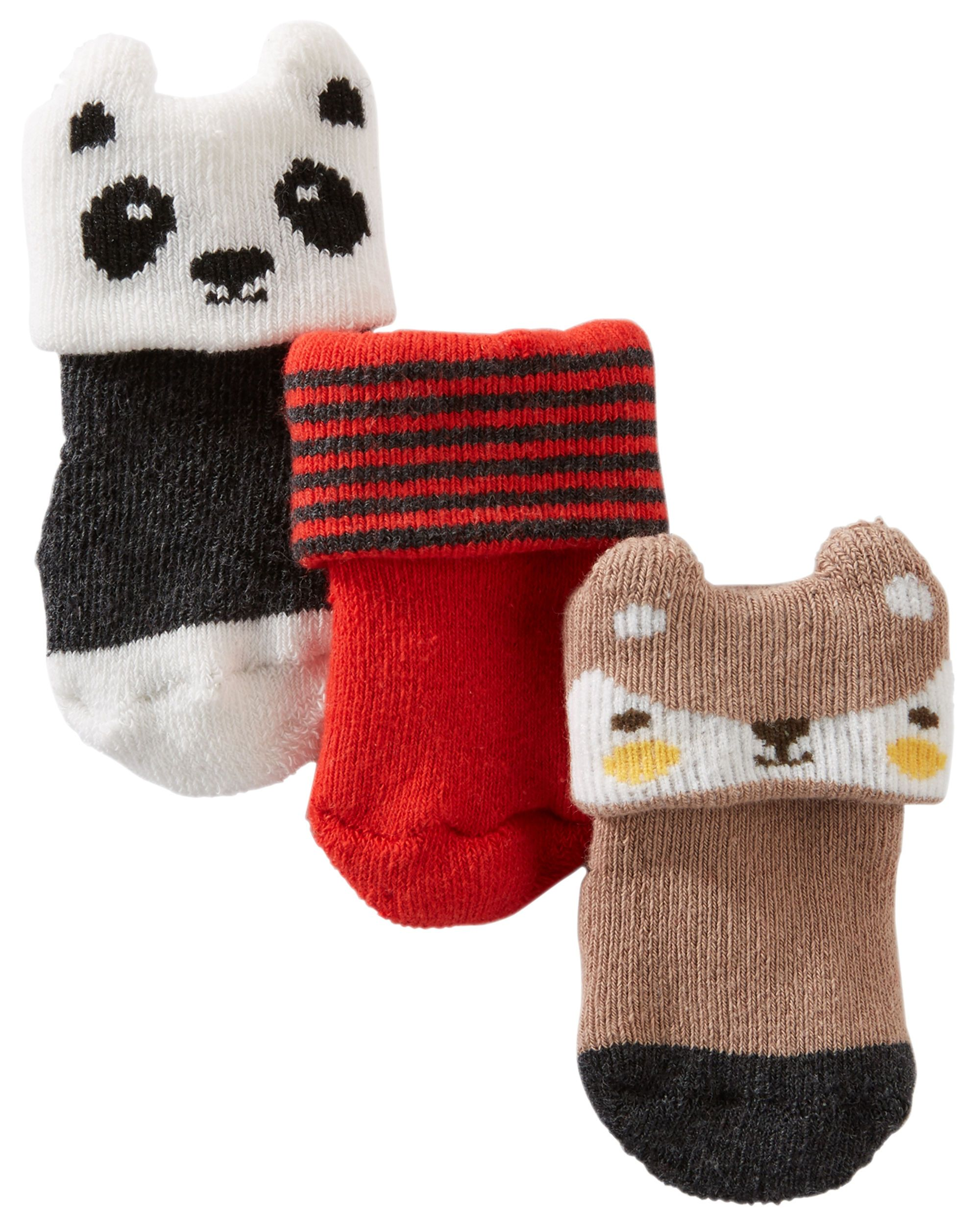 3 Pack Animal Terry Socks