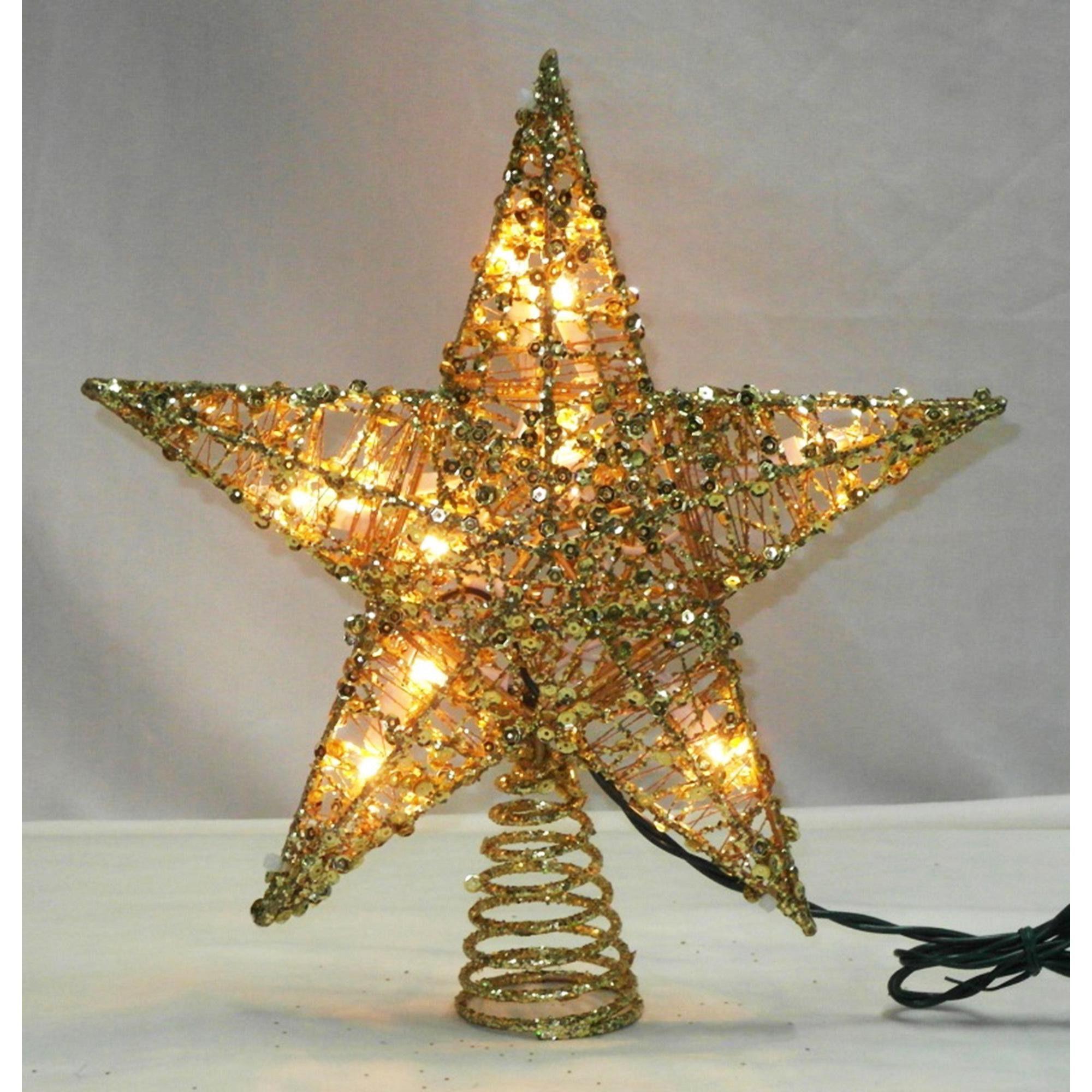 Northlight 12 Lighted Glittering Gold Christmas Star Tree