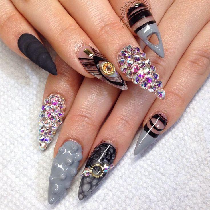 7051a80306fe211b9832640a7f9515f4.jpg (736×738) | C-Jus Funky Nails ...