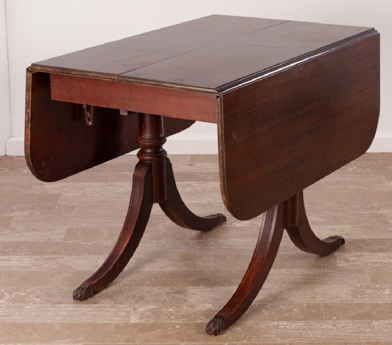 Brandt Duncan Phyfe Style Drop Leaf Table Jul 22 2017 Bremo Auctions In Va Drop Leaf Table Leaf Table Table
