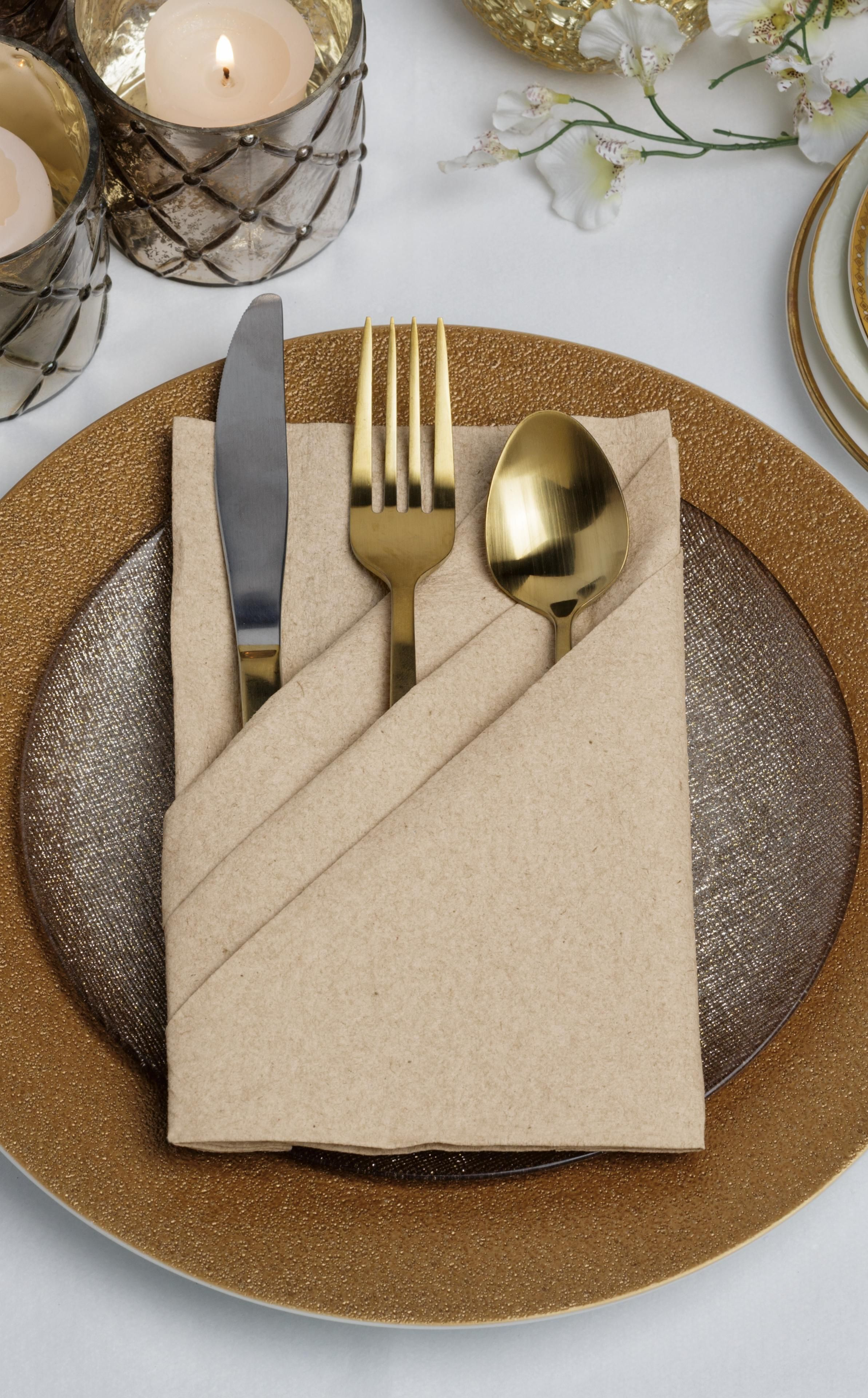 14 5 In X 14 5 In Linen Like Kraft Dinner Napkins Flat Pack 1000 Ct Table Napkins Dinner Napkins Open Kitchen Restaurant