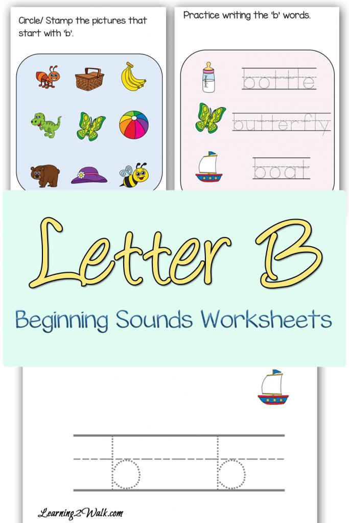 FREE Letter B Beginning Sounds Worksheets