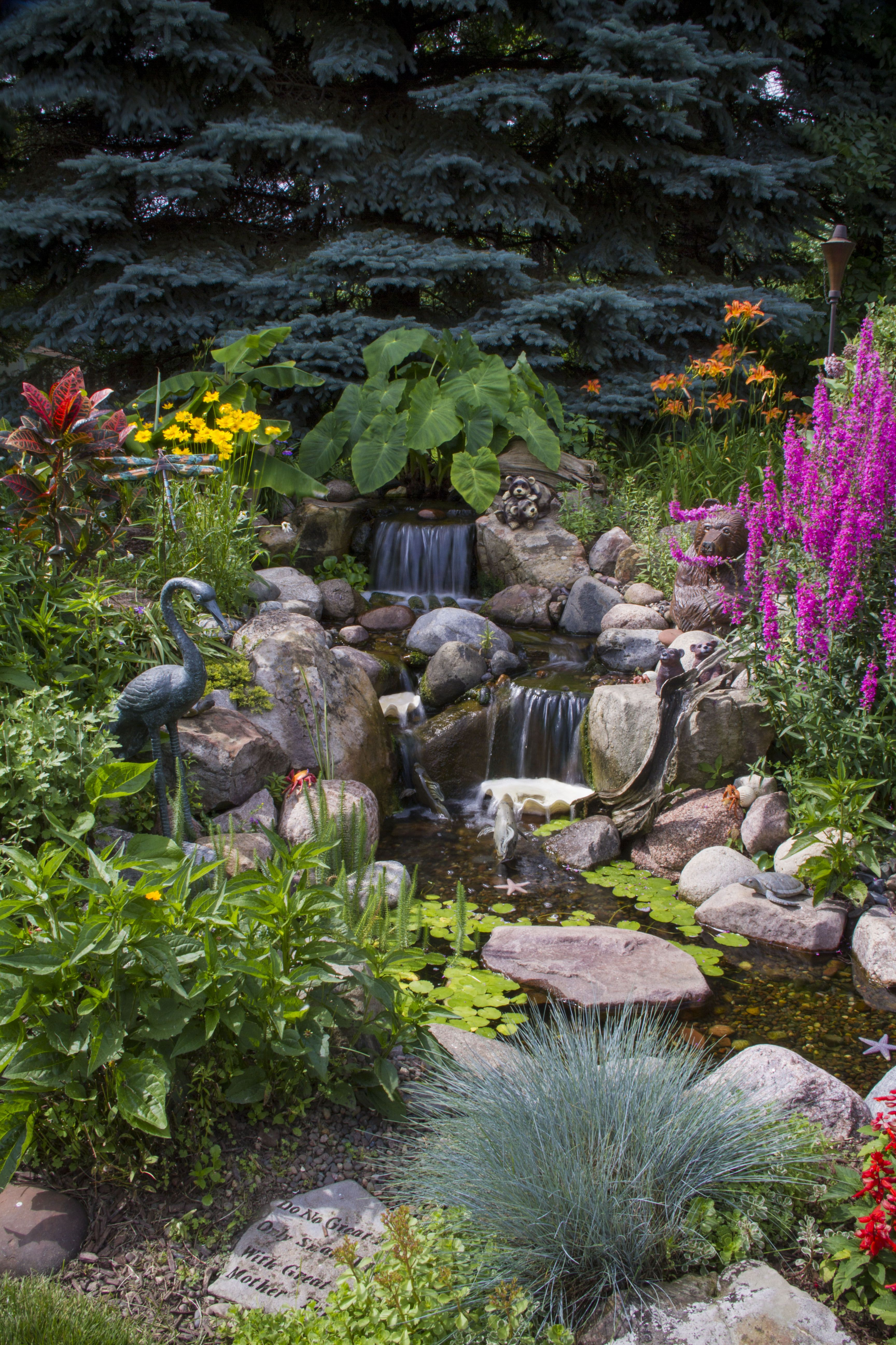Waterfall Created By Aquascape Inc. In St. Charles, IL. #WaterfallWednesday