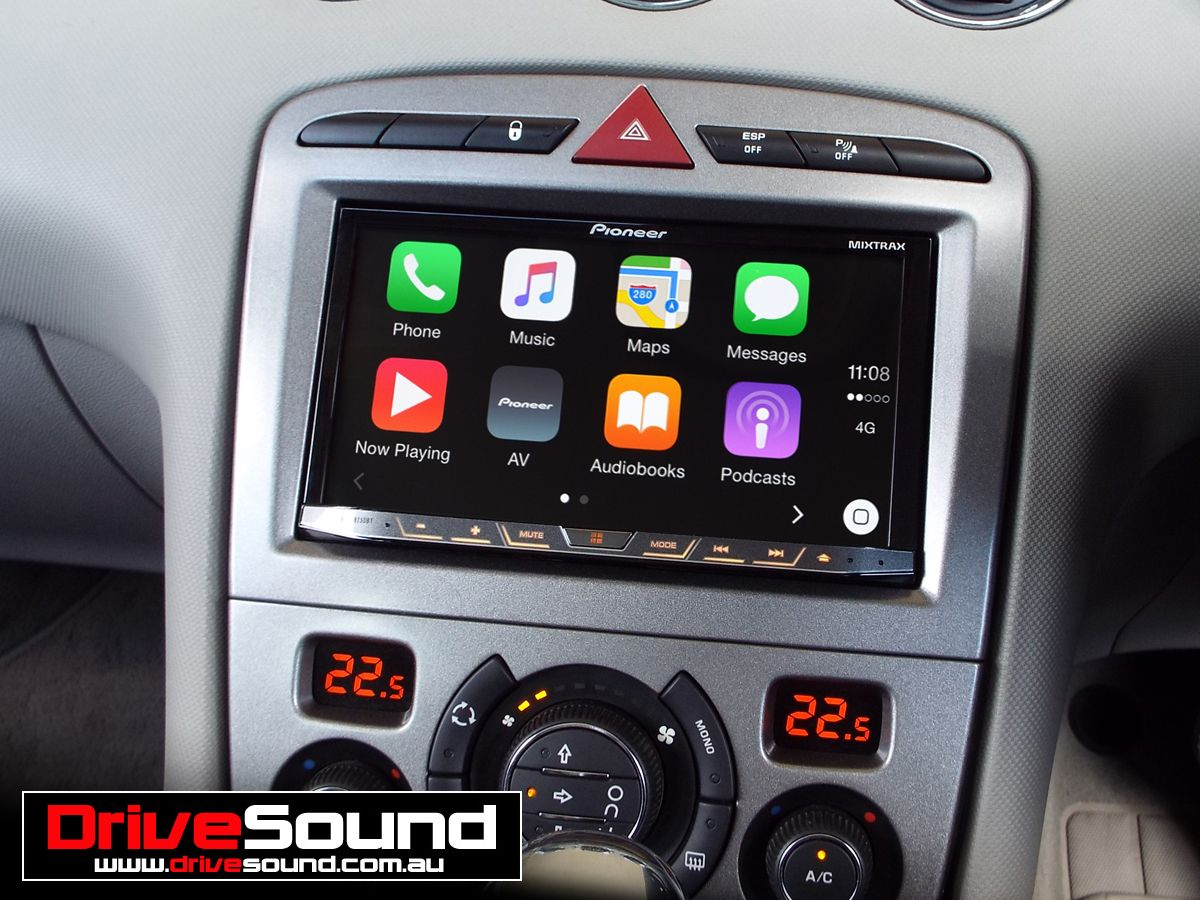 peugeot 308 with apple carplay installed by drivesound apple carplay. Black Bedroom Furniture Sets. Home Design Ideas