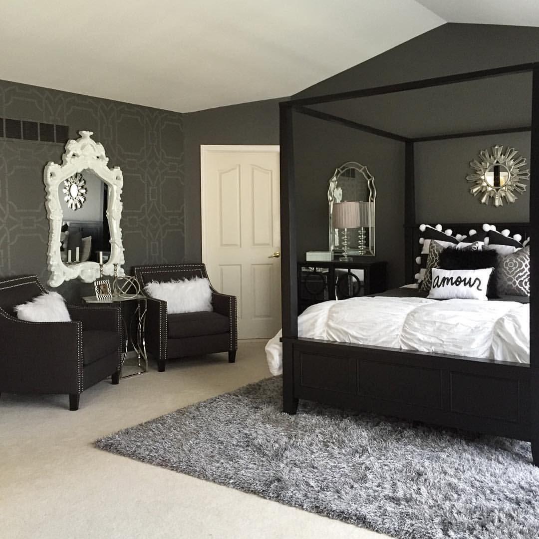 charcoal #black #white #bedroom | Bedrooms in 2019 | Black ...