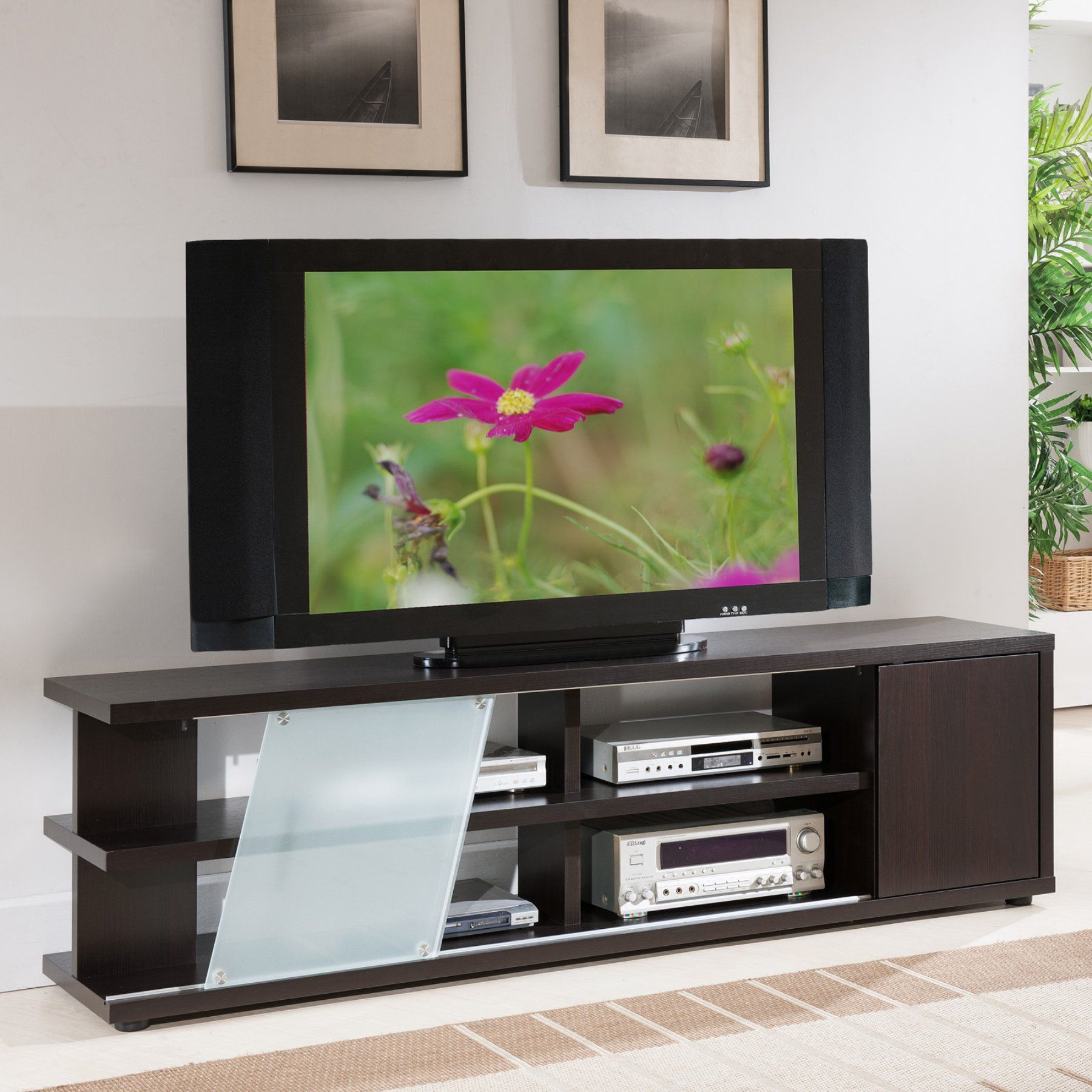 Furniture of america griffith multi storage tv stand cappuccino