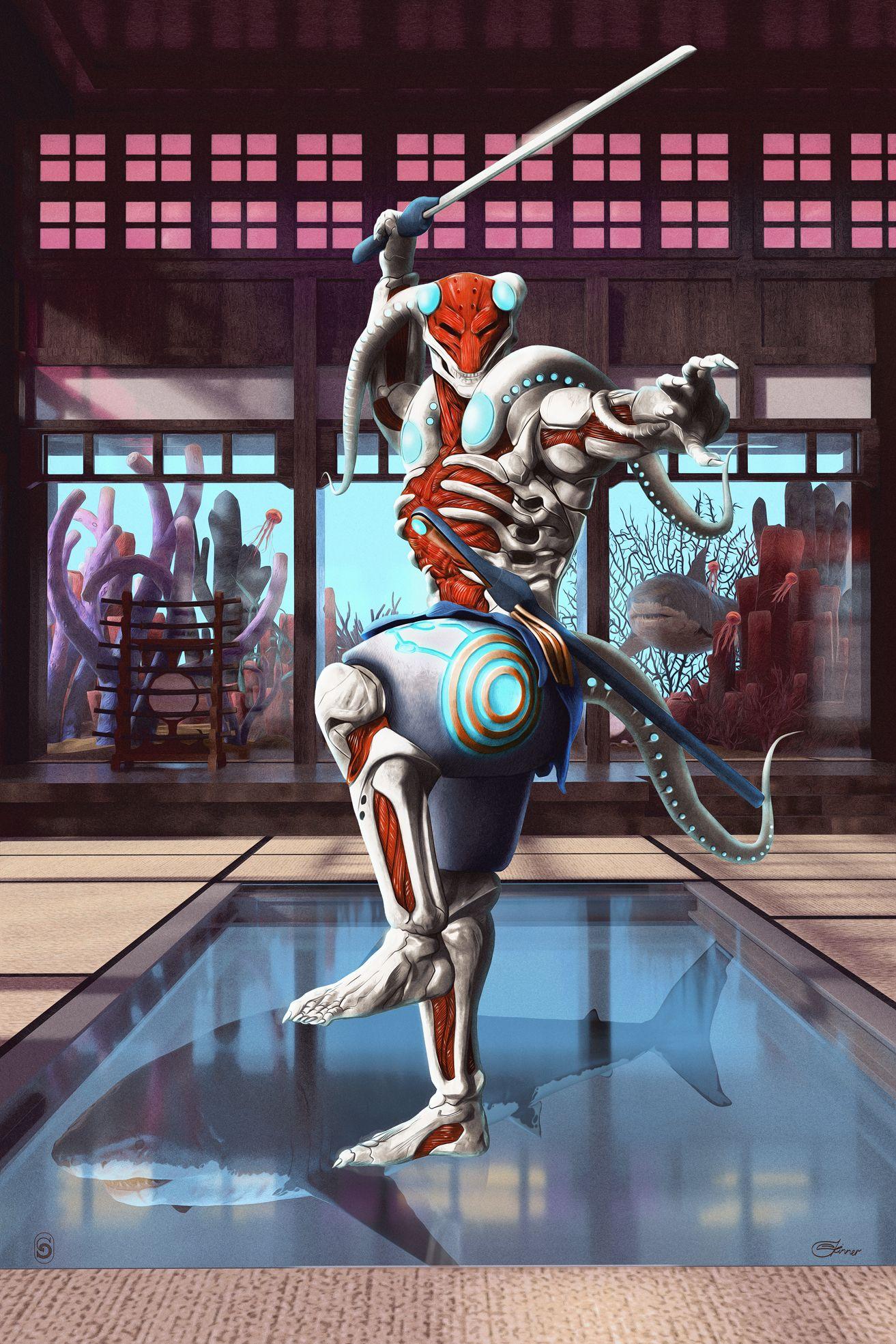 Yoshimitsu Tekken 7 Chris Skinner Debut Art