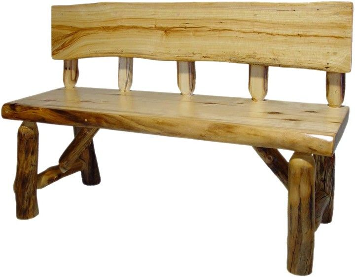 Beartooth Aspen Log Bench With Back For The Home