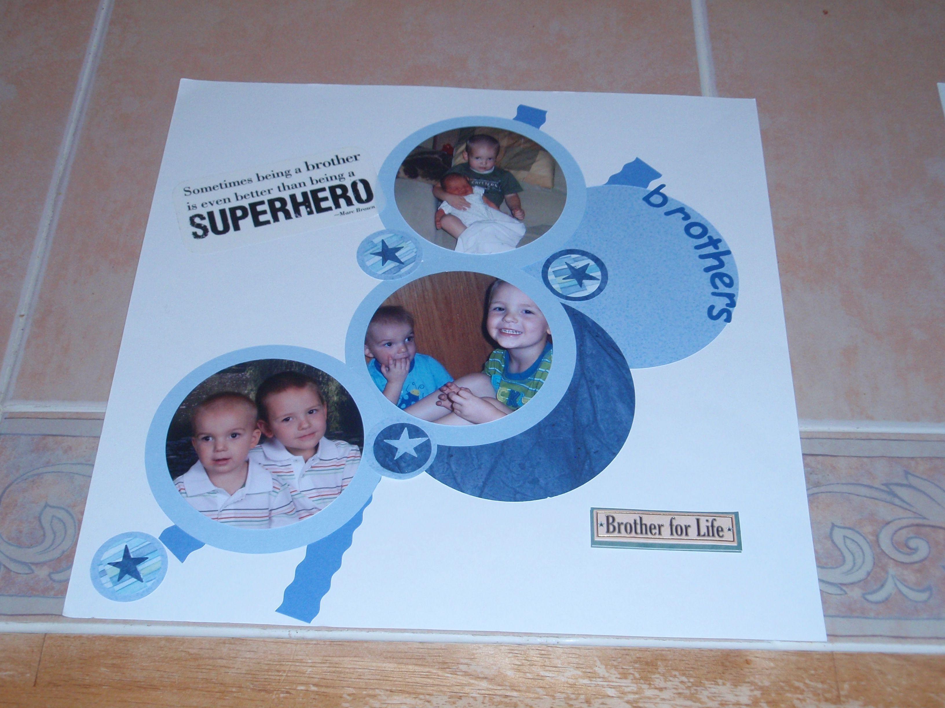 Family scrapbook ideas on pinterest - Brothers Family Scrapbook