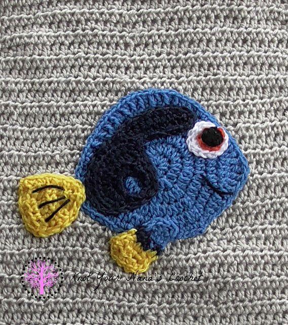Blue Tang Fish Applique Pattern By Teri Heathcote Crochet Knit