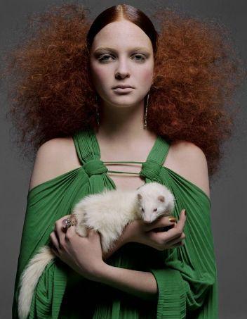 Vogue Italy - Greg Lotus ~ETS #ermine #redheadsrule