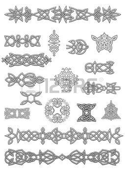 tatouage celtique: Ornements celtiques et des embellissements pour la conception et décorer Illustration