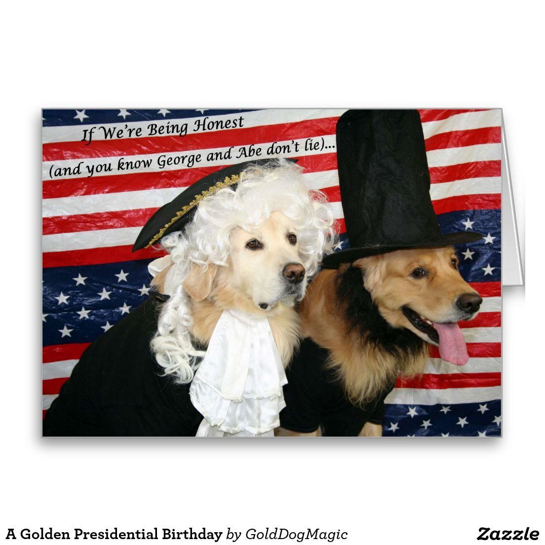 A Golden Presidential Birthday Card – Presidential Birthday Card