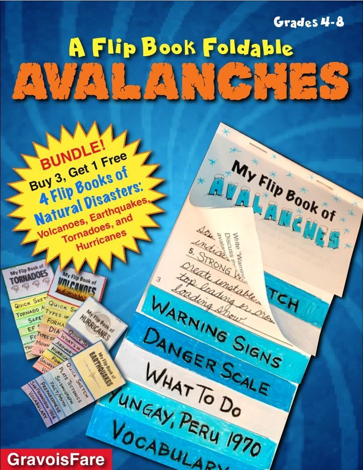 Avalanches A Foldable Flip Book Of Natural Disasters