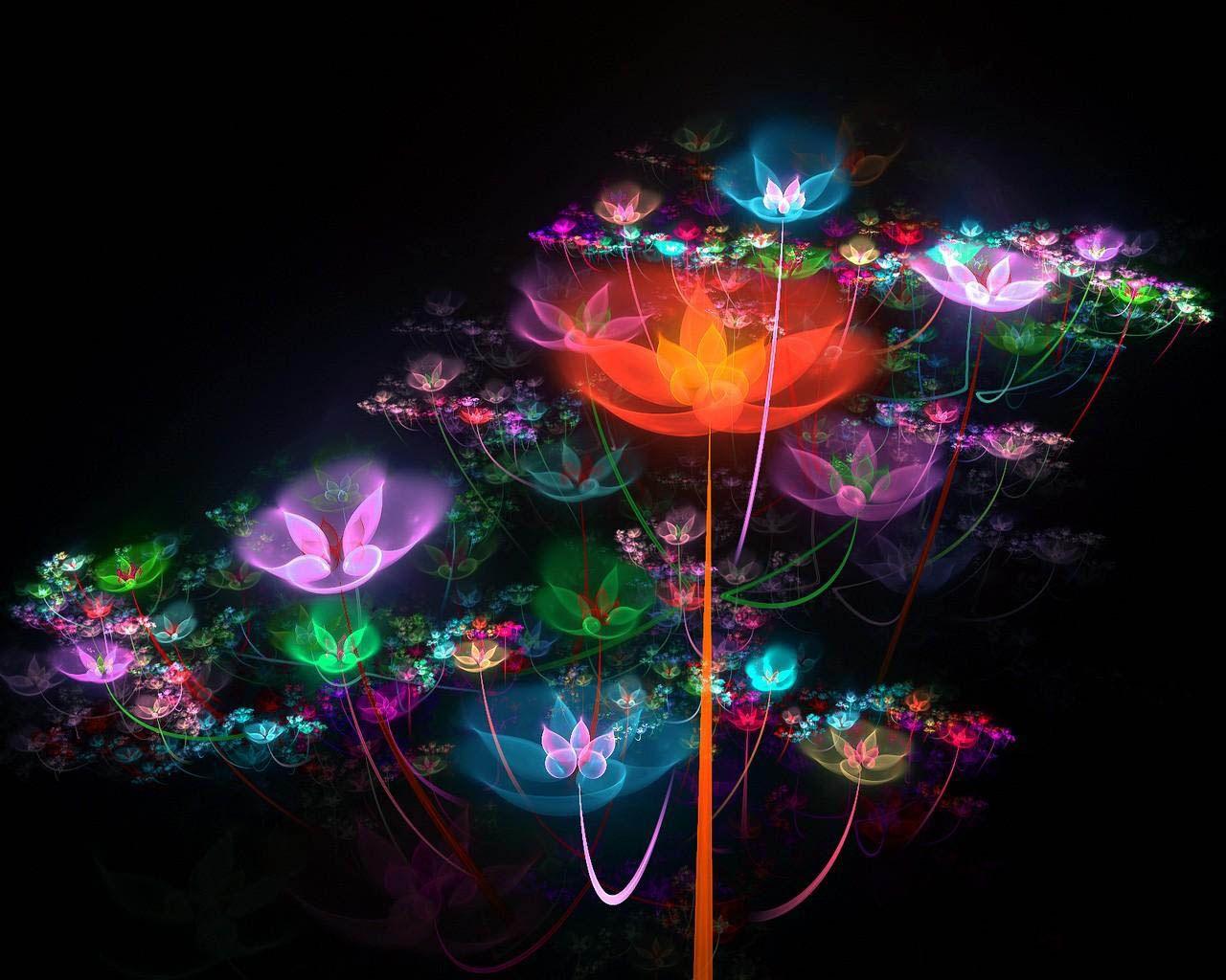 Картинка Мистические цветы в 3д - Картинки 3D-Графика ...