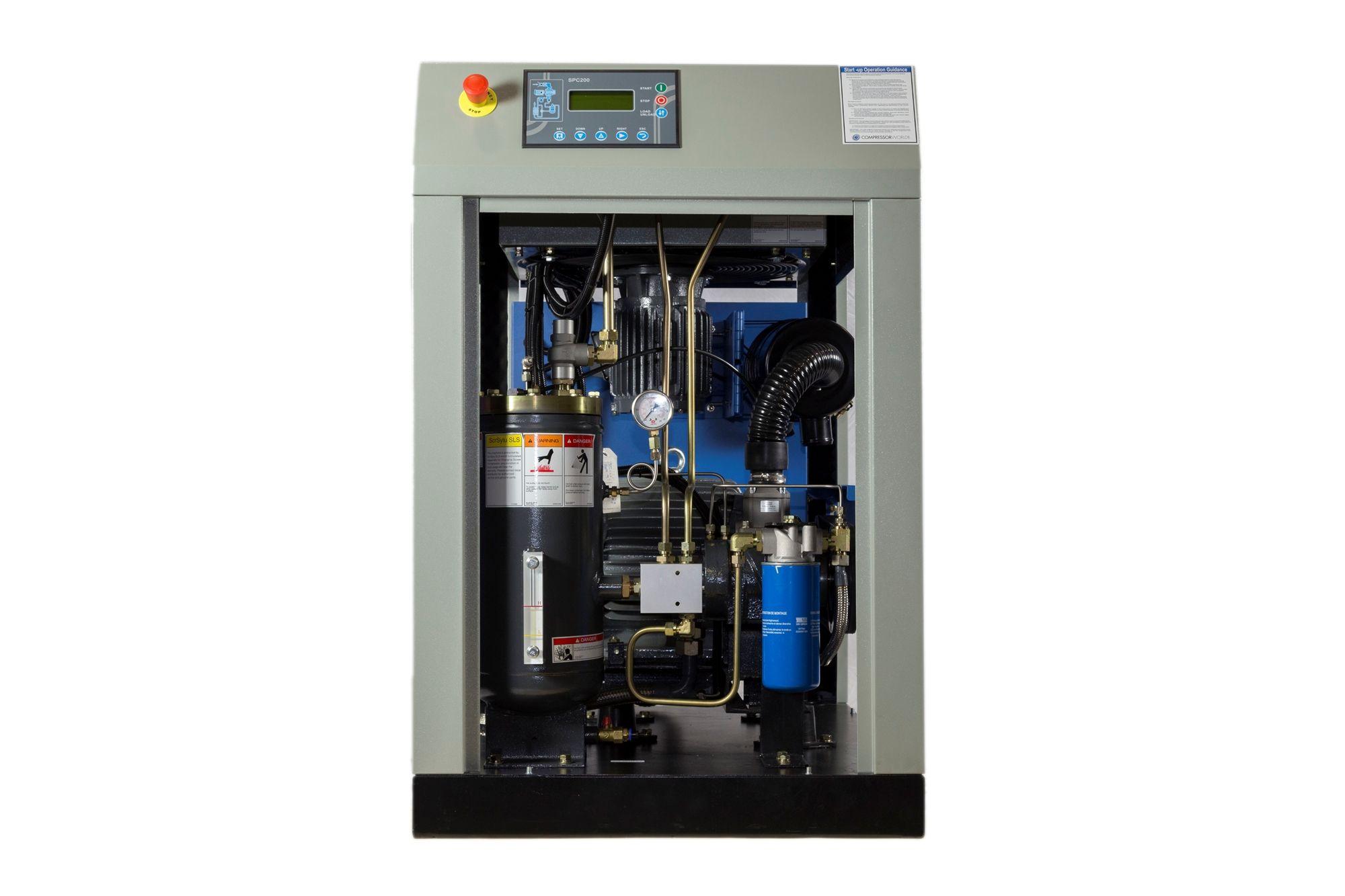 25 Hp Rotary Screw Air Compressors 25 Horsepower 100 Cfm Air Compressor Compressors Locker Storage