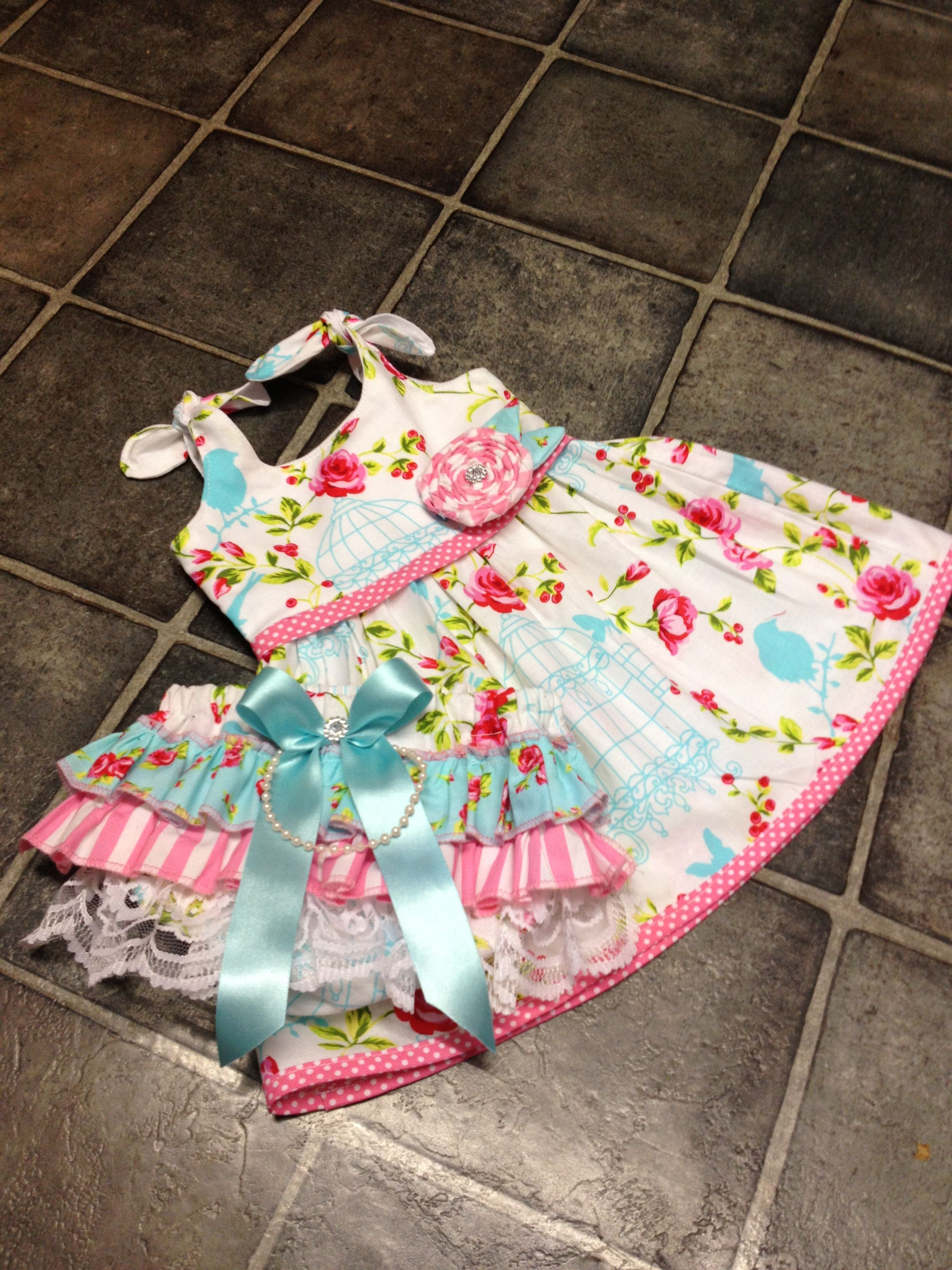 10249dee0 Made by Rae itty bitty baby dress pattern and frilly knickers all made by  Sew Cute by Nicky <3
