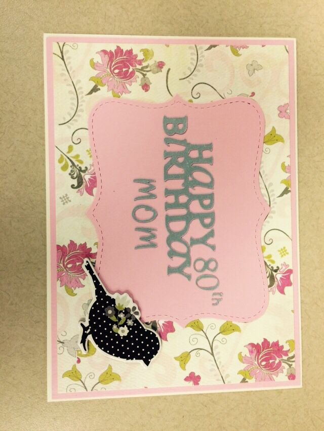 Happy 80th Birthday Card Cards I Have Made Pinterest 80th
