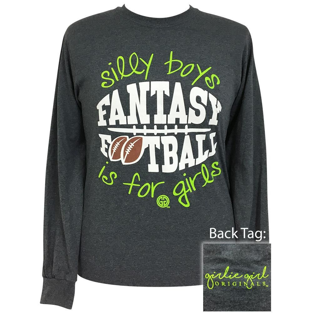 c1c664318 Fantasy Football Dark Heather Long Sleeve | I'd Wear That | Fantasy ...