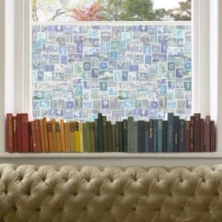 Purldeco Blue Stamps Window Film