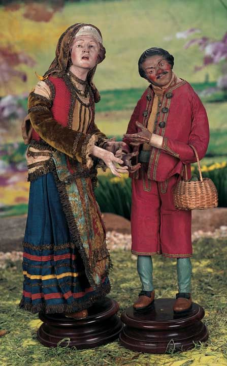 "13"" and 14"" Neapolitan 18th c. Crèche dollsView Catalog Item - Theriault's Antique Doll Auctions"