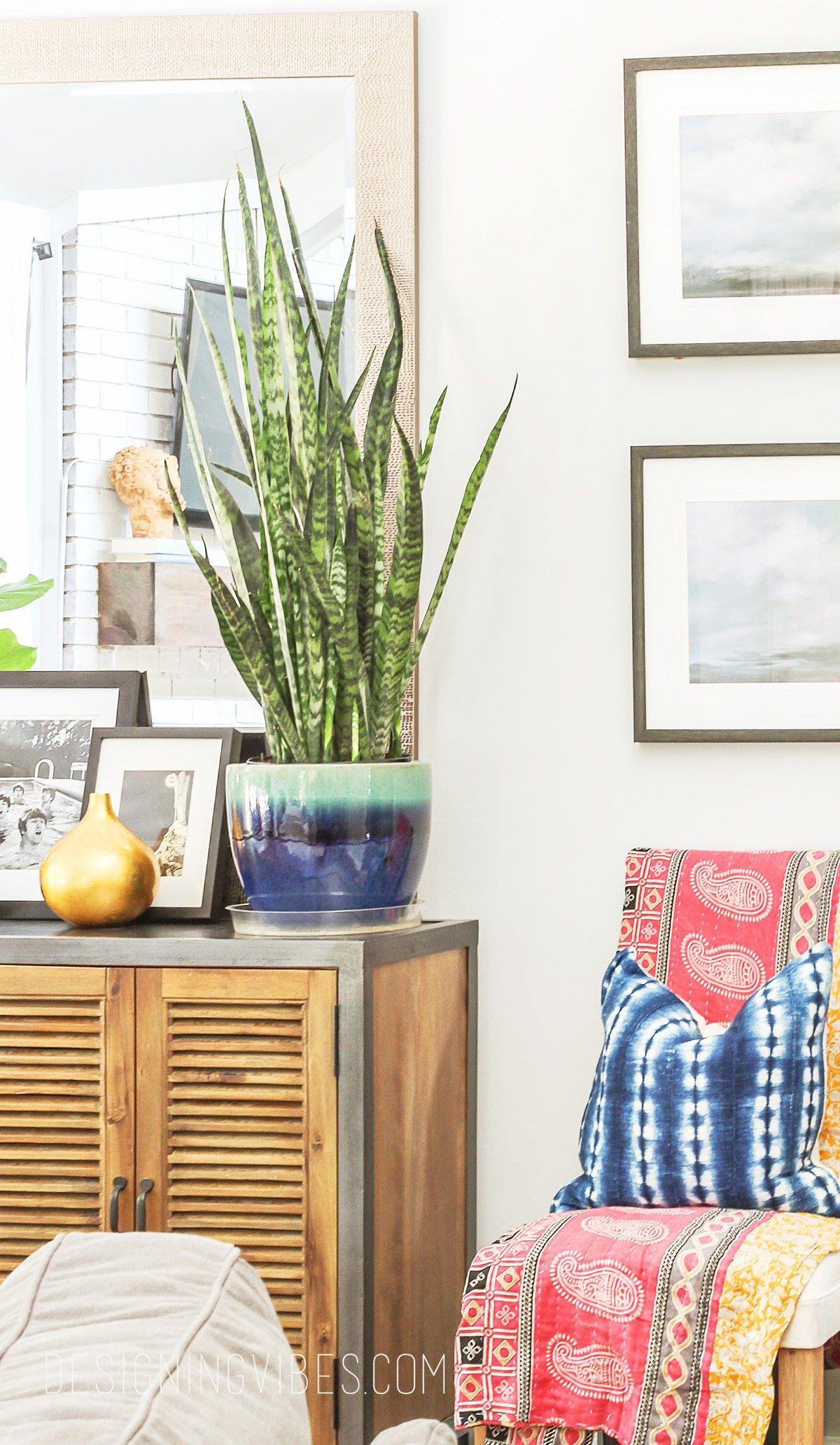 summer eclectic home tour- boho chic decor | indigo, living rooms
