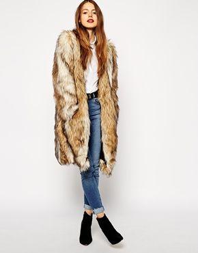 ASOS - Manteau long en fausse fourrure style vintage   for my hippy ... 3ca0704fd9ec