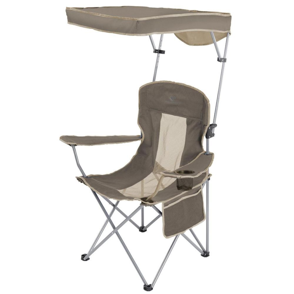 Folding C&ing Chair With Canopy Outdoor Picnic Portable Garden Seat Sun Shade #PortableGardenSeat  sc 1 st  Pinterest & Folding Camping Chair With Canopy Portable Outdoor Garden Picnic ...