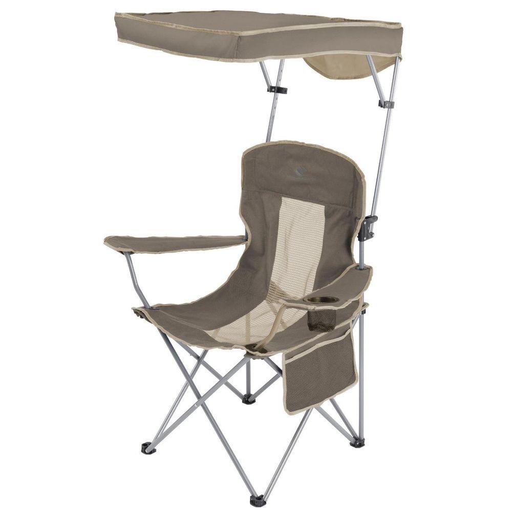 Folding Camping Chair With Canopy Outdoor Picnic Portable Garden Seat Sun  Shade #PortableGardenSeat