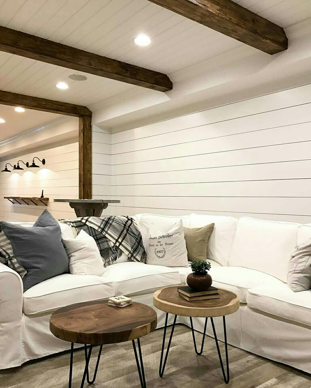 24 White Wood Beams Ceiling