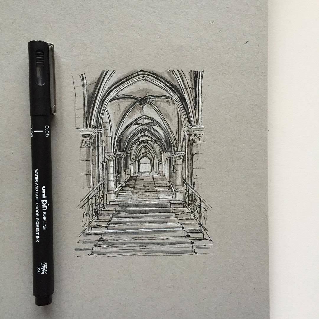 Quick sketch of the interior of the Townhall in Vienna.