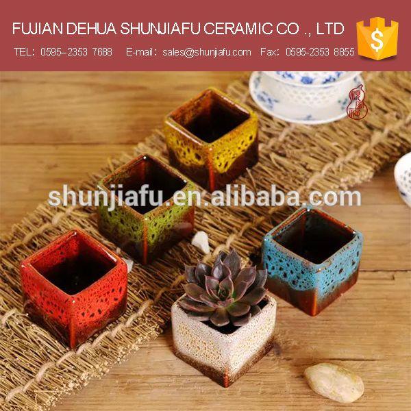 5 3 5 3 5cm Ceramic Glazed Minitype Square Flower Pot Mini Bonsai Pots Wholesale Ceramic Flower Pots Small Flower Pots Ceramic Flowers