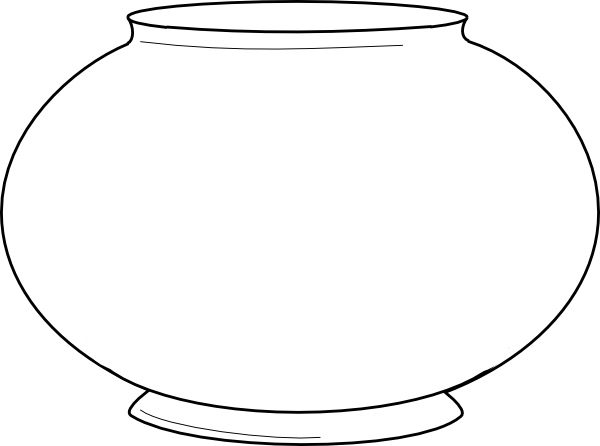 blank fishbowl with images fish bowl coloring pages
