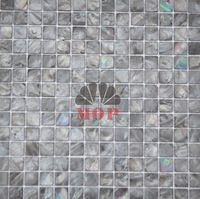 freshwater shell mosaic mother of pearl  tiles  dyeing black color mesh-joint with seam original  fashion  style hot sale