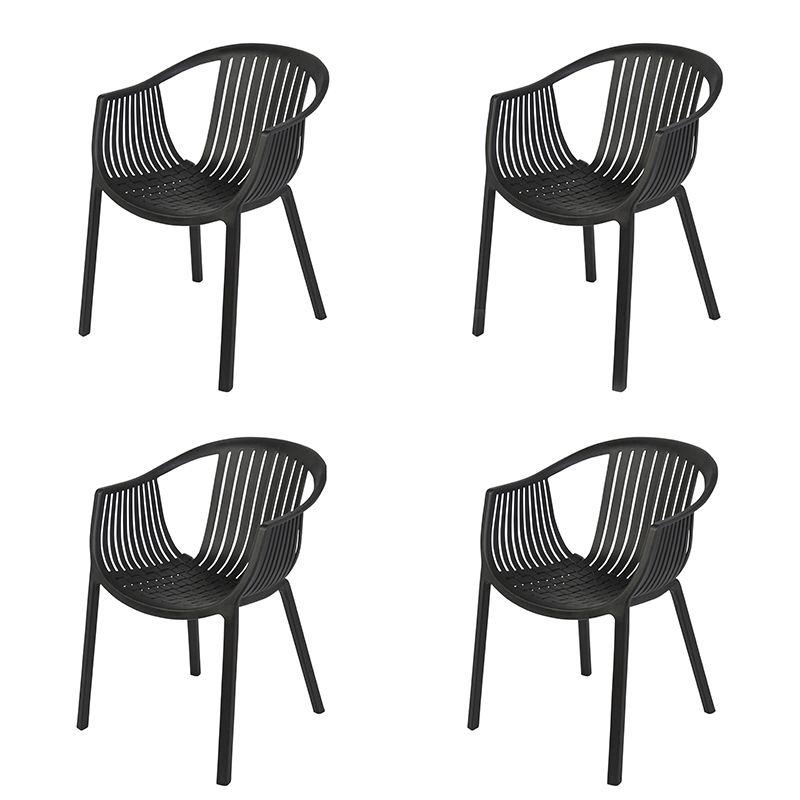 Gartenstuhl Kunststoff Schwarz Set Von 4 Spica Garten Gartenmobel Gartenstuhle Schwarz Kunststoff Qaz Gartenstuhle Gartenstuhle Kunststoff Stuhle