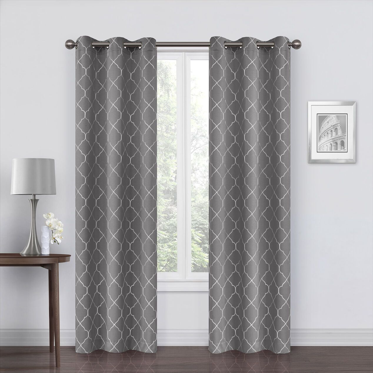 Gray Curtains Grommet Curtains Panel Curtains Curtains