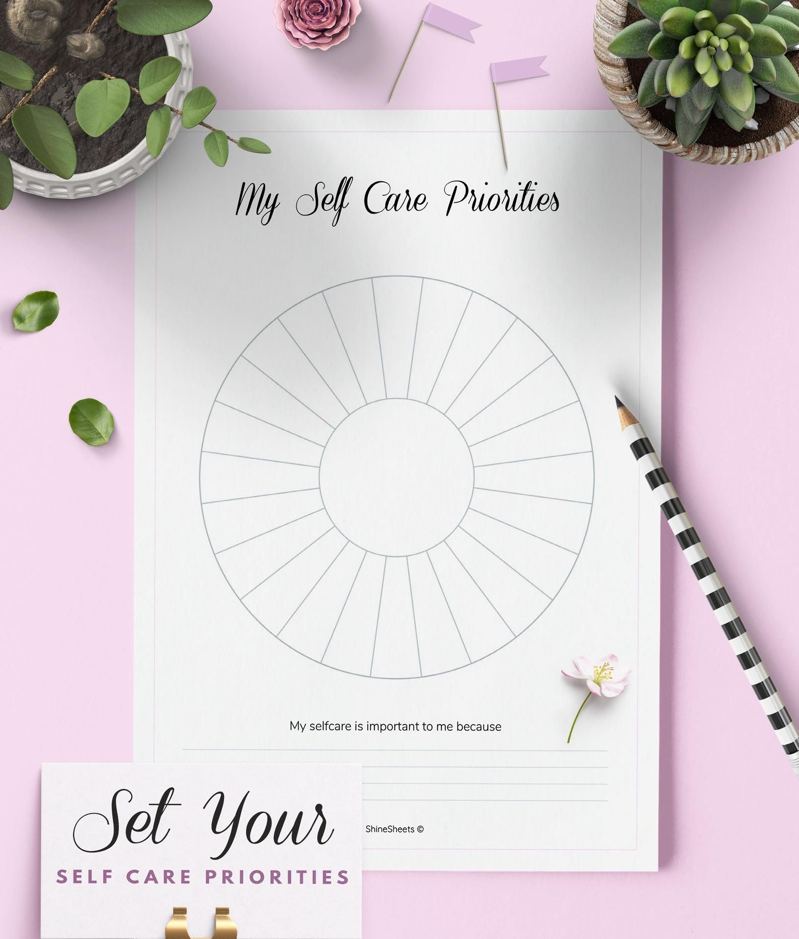 Pin On Self Care Worksheets