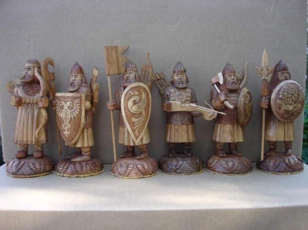 разделяем фигуры воинов фото деревянных измельчить чеснокодавилке