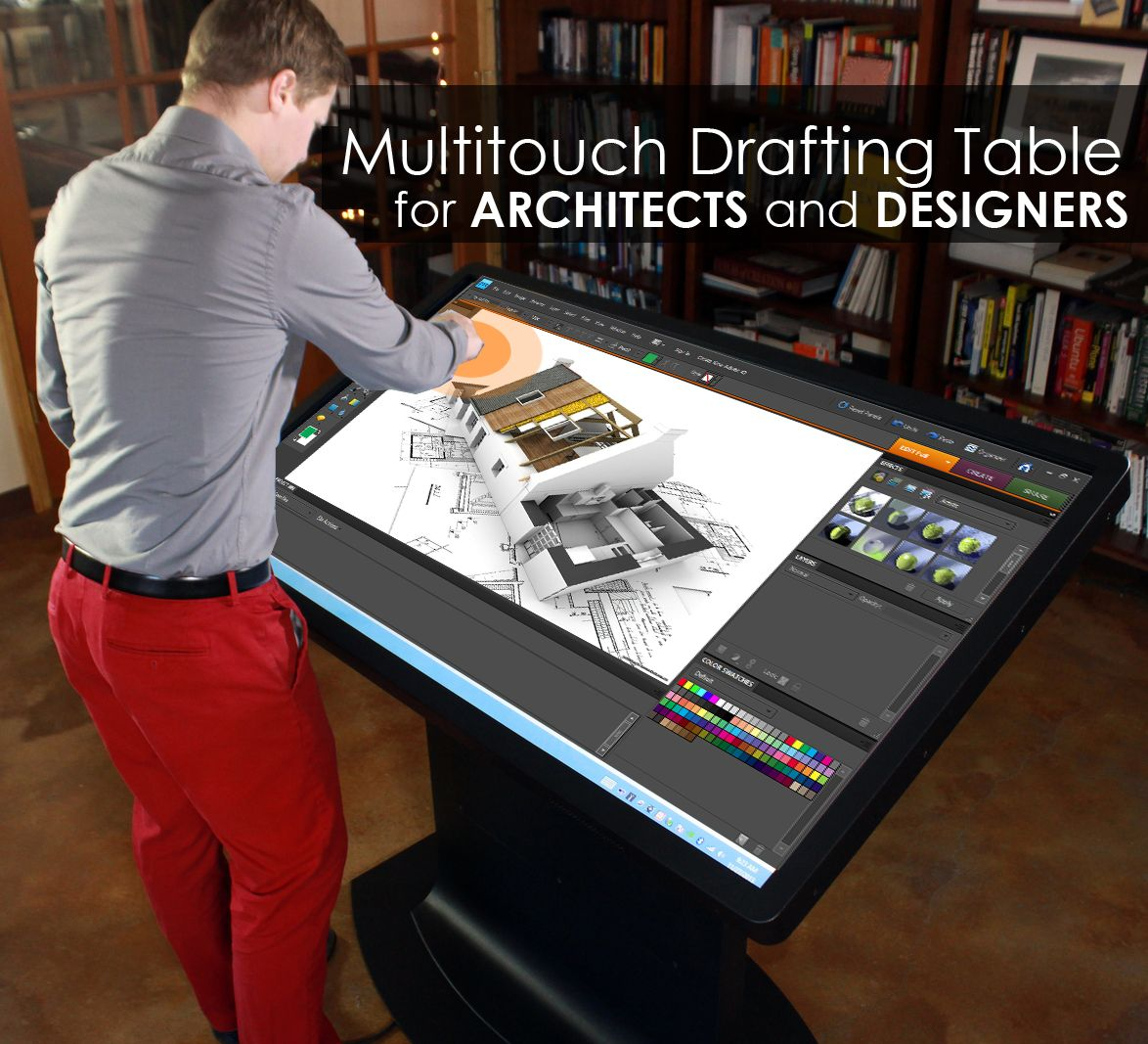Multitouch Drafting Table For ARCHITECTS, DESIGNERS And