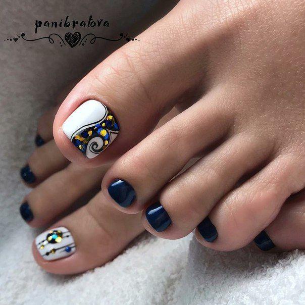 дизайн ногтей 2018 Uñas Sólo Pies Toe Nail Designs Nail Designs